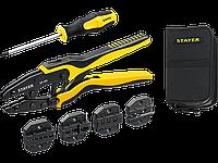 Набор пресс-клещи SP-4M, 4 матрицы, в сумке чехле, STAYER Professional