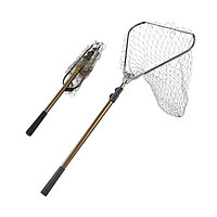 Подсак для рыбалки складной с телескопической ручкой треугольный от 80 до 215 см