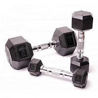 Гантельный ряд гексагональный Fitnessport от 2.5 до 25кг (10 пар)
