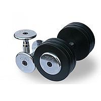 Обрезиненный гантельный ряд Fitnessport от 2.5 до 25кг (10 пар)