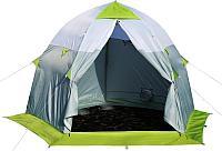 Палатка Лотос 3C белый-зеленый