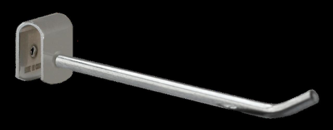Торговое оборудование -Крючок на квадратную трубу 200мм хром