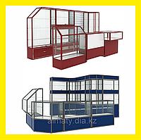Стеклянные торговые витрины и прилавки