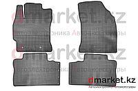 Коврики полики Toyota Corolla 2013, черные, резиновые, 4 предмета, фото 1