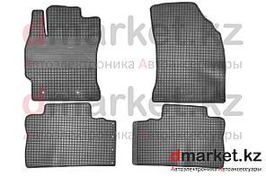 Коврики полики Toyota Corolla 2013, черные, резиновые, 4 предмета