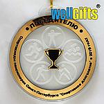 Медаль из акрила с вставкой под золото, фото 2
