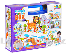 Набор для творчества конструктор мозаика с шуруповертом 4 в 1 Creative Portable Box 198 деталей 681A