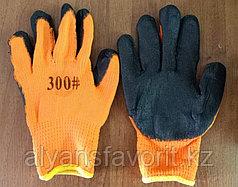 Перчатки рабочие облитые резиной #300