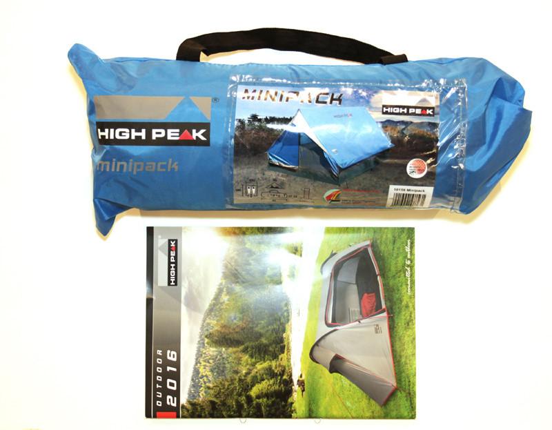 Палатка HIGH PEAK Мод. MINIPACK 2 (2-x местн.)(190x120x95см)(1,60кГ) (нагрузка: 1.500мм) R89024 - фото 4