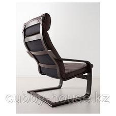 POÄNG ПОЭНГ Кресло, черно-коричневый/Глосе темно-коричневый, фото 3
