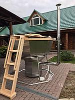 Сибирский Банный Чан, (в*д: 110*185/0,3 см., AISI-304), на подставке, + печь, фото 1