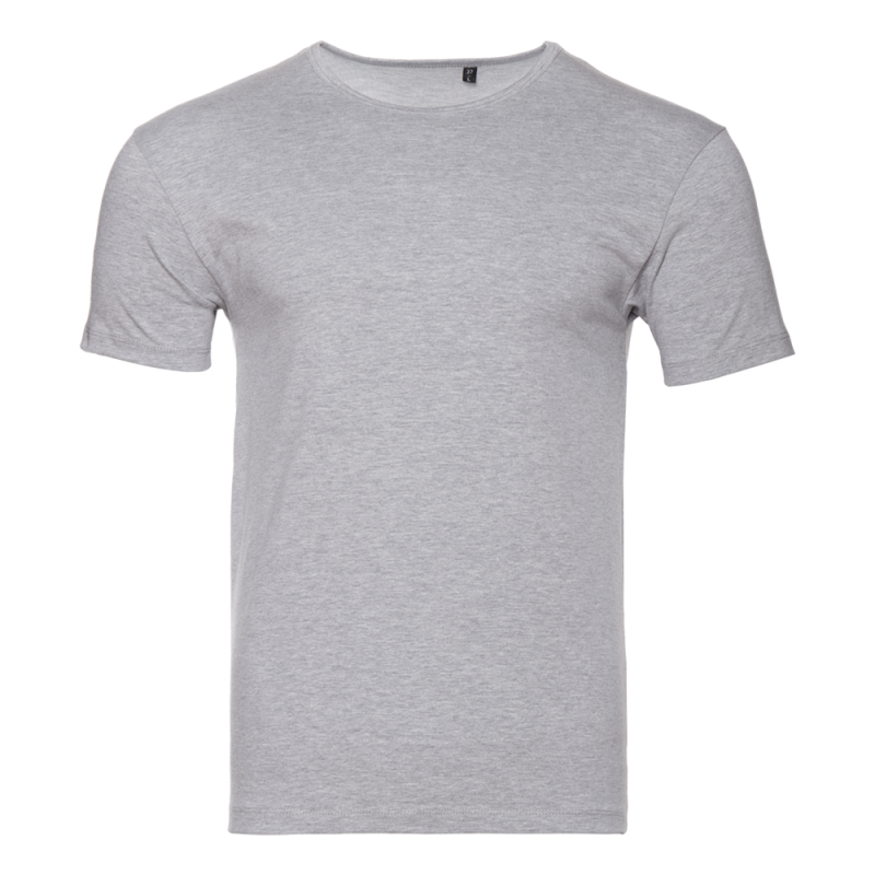 Футболка 37_Серый меланж (50/1) (XL/52)