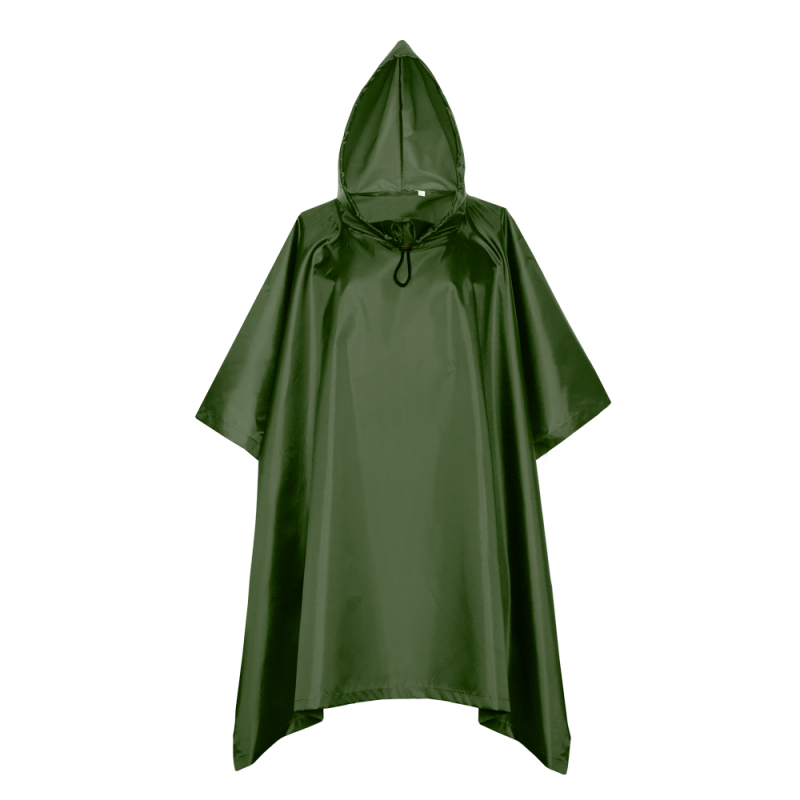 Дождевик-пончо 302_Тёмно-зелёный (130) (L/50)