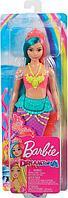 Barbie Дримтопия Кукла Barbie Русалочка в розово-желтом топе