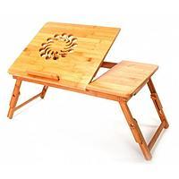 Столик-трансформер для ноутбука, планшета и завтрака в постели, 550 × 350 × 370 мм, бамбук