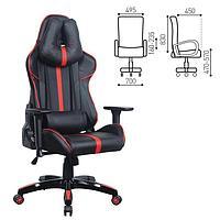 """Кресло игровое BRABIX """"GT Carbon GM-120"""", две подушки, экокожа, черное/красное, 531931 544849"""
