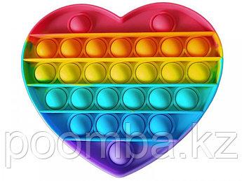 Поп Ит Pop It fidget toy 3D Радужное сердце!