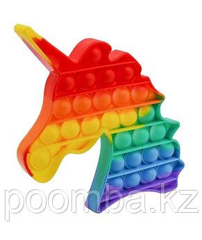 Поп Ит Pop It fidget toy 3D Радужное Единорог!