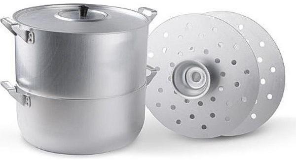 Манты-казан алюминиевый, 15 л, 4 диска