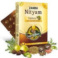 Нитьям NITYAM Zandu в таблетках природное слабительное, Занду 12 таб.