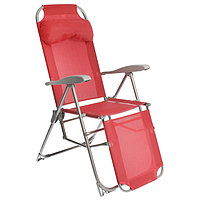 Кресло-шезлонг К3, 82 x 59 x 116 см, гранатовый
