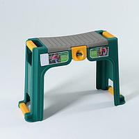 Скамейка с органайзером (зеленый/желтый)