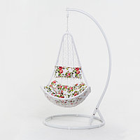 Подвесное кресло, с подушкой, искусственный ротанг, цвет белый, 44-001-03