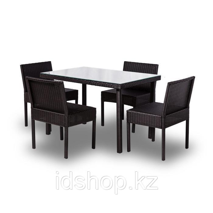 Набор садовой мебели, обеденная группа «Корсика», стол, 4 стула, искусственный ротанг - фото 1
