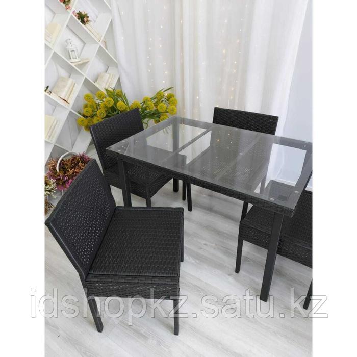 Набор садовой мебели, обеденная группа «Корсика», стол, 4 стула, искусственный ротанг - фото 3