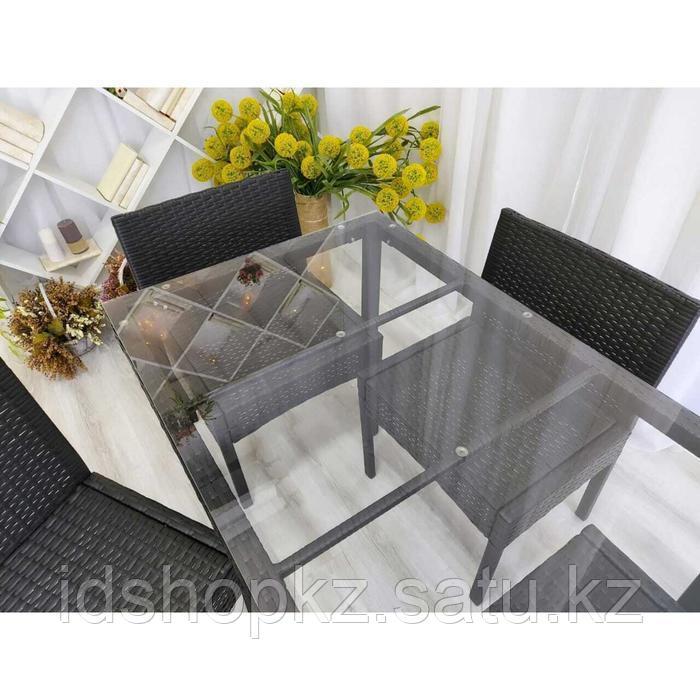 Набор садовой мебели, обеденная группа «Корсика», стол, 4 стула, искусственный ротанг - фото 4