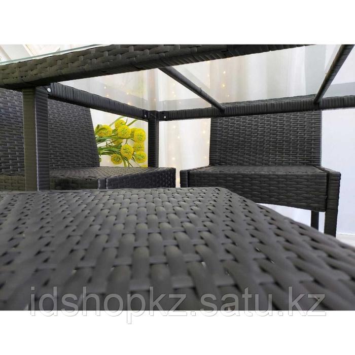 Набор садовой мебели, обеденная группа «Корсика», стол, 4 стула, искусственный ротанг - фото 5