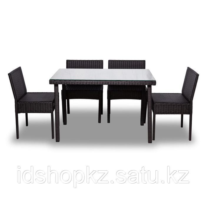 Набор садовой мебели, обеденная группа «Корсика», стол, 4 стула, искусственный ротанг - фото 9