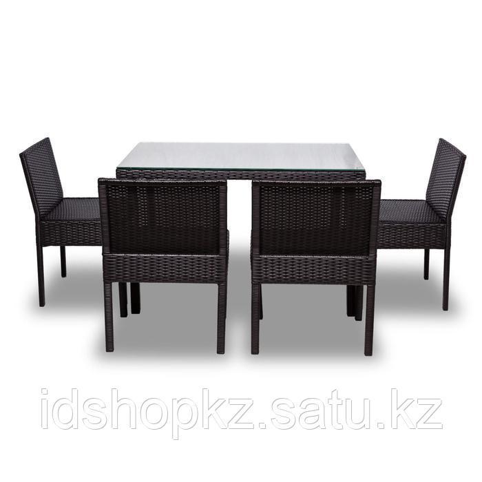 Набор садовой мебели, обеденная группа «Корсика», стол, 4 стула, искусственный ротанг - фото 10
