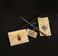 Набор Волшебная палочка Гермионы Грейнджер+Письмо из Хогвартса+Карта Мародеров+Билет на платформу 9 и 3/4