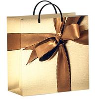 """Пакет мягкий пластик 300х300мм, 140мкм, с пл. ручкой, """"Подарочный"""", 40 шт"""