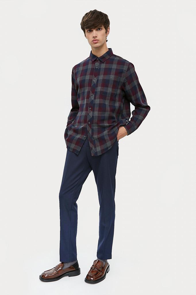 Рубашка мужская Finn Flare, цвет темно-серый, размер L - фото 1