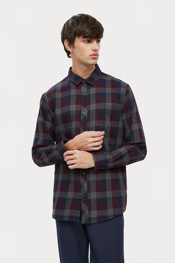 Рубашка мужская Finn Flare, цвет темно-серый, размер L - фото 2
