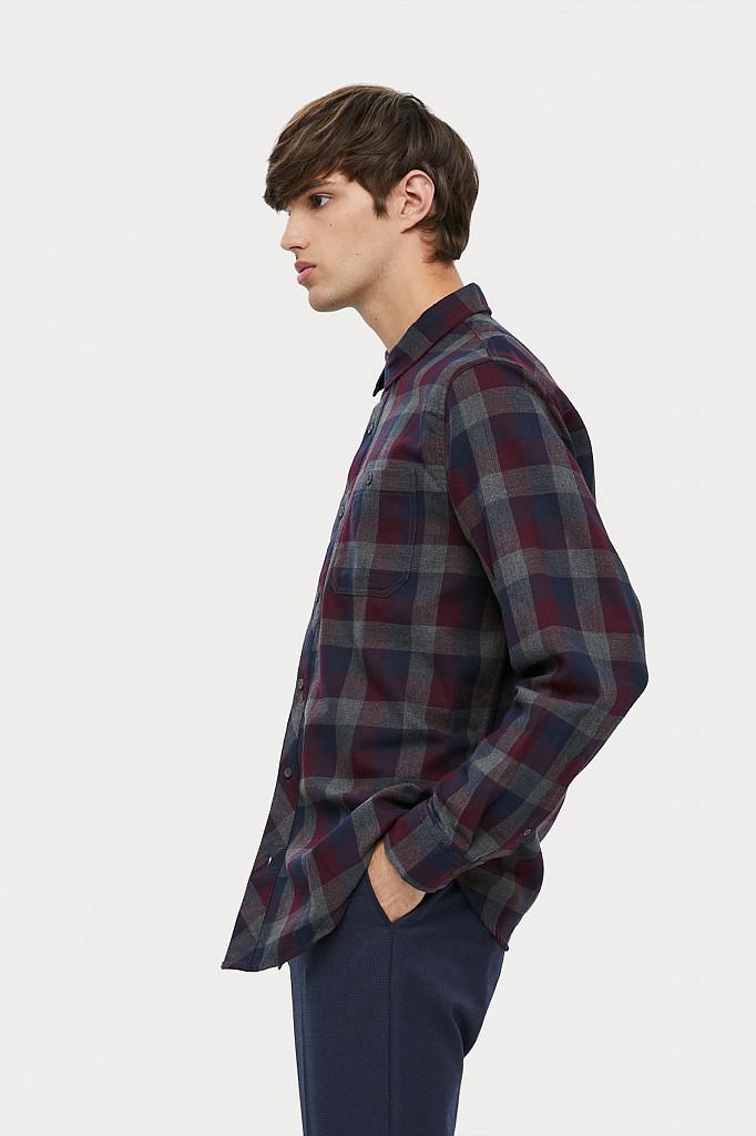 Рубашка мужская Finn Flare, цвет темно-серый, размер L - фото 3