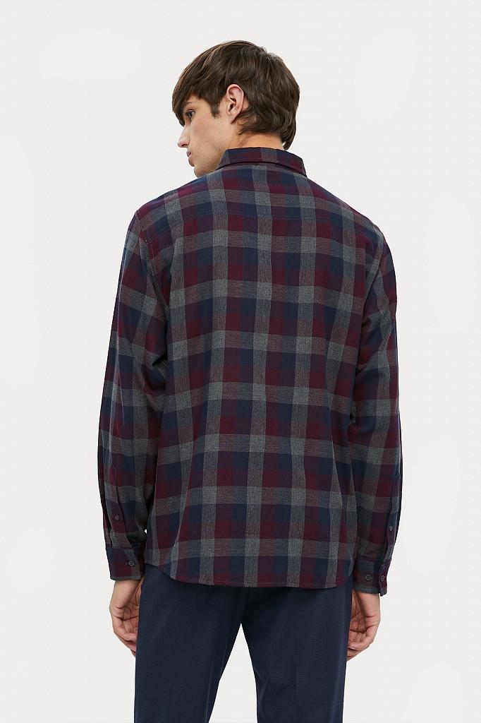Рубашка мужская Finn Flare, цвет темно-серый, размер L - фото 4