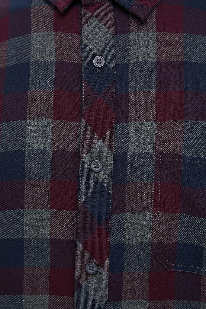 Рубашка мужская Finn Flare, цвет темно-серый, размер L - фото 5