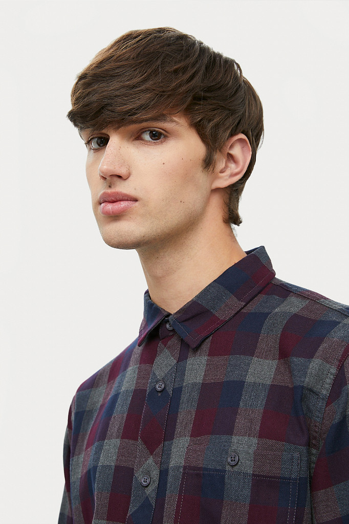 Рубашка мужская Finn Flare, цвет темно-серый, размер L - фото 6