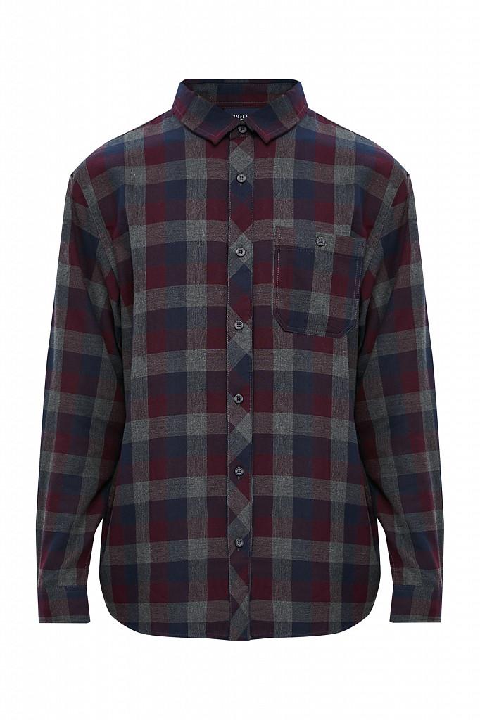 Рубашка мужская Finn Flare, цвет темно-серый, размер L - фото 7