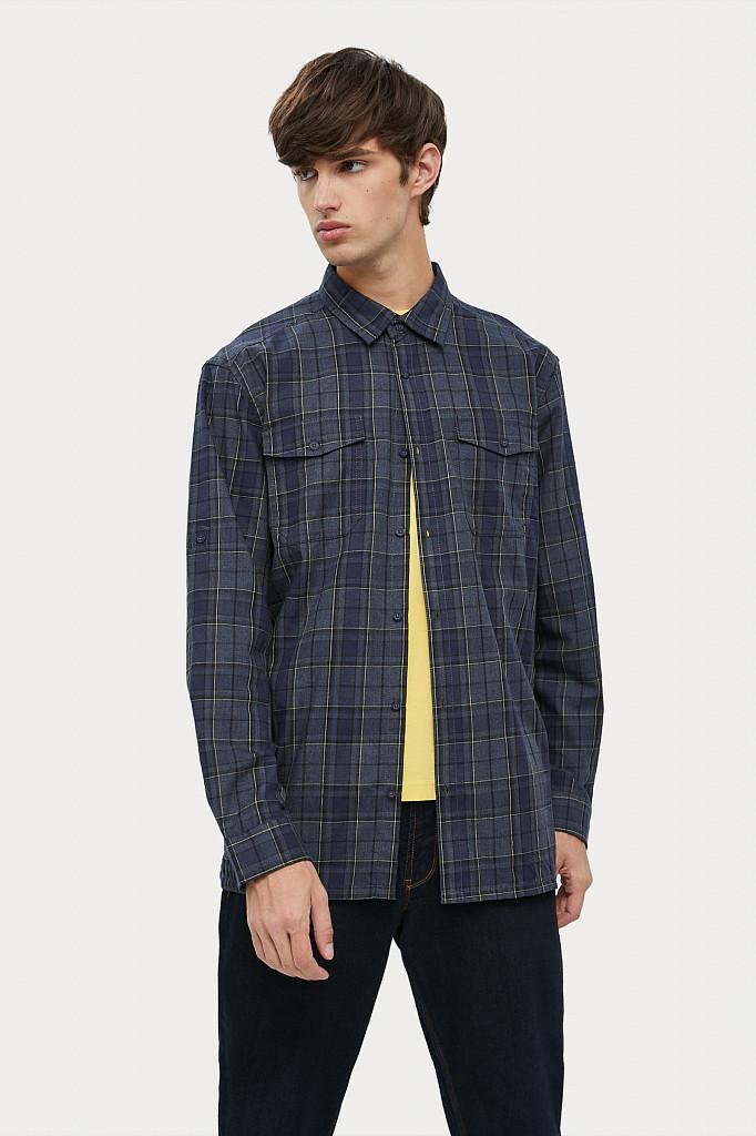 Рубашка мужская Finn Flare, цвет темно-синий, размер XL - фото 1