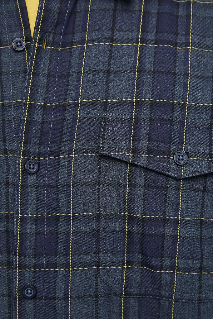 Рубашка мужская Finn Flare, цвет темно-синий, размер XL - фото 5