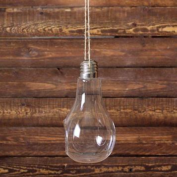 Флорариум 22*11 см лампочка, с верёвкой