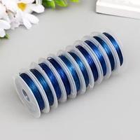 Флористическая проволока 0,3 мм, (набор 10*10 м) , синий