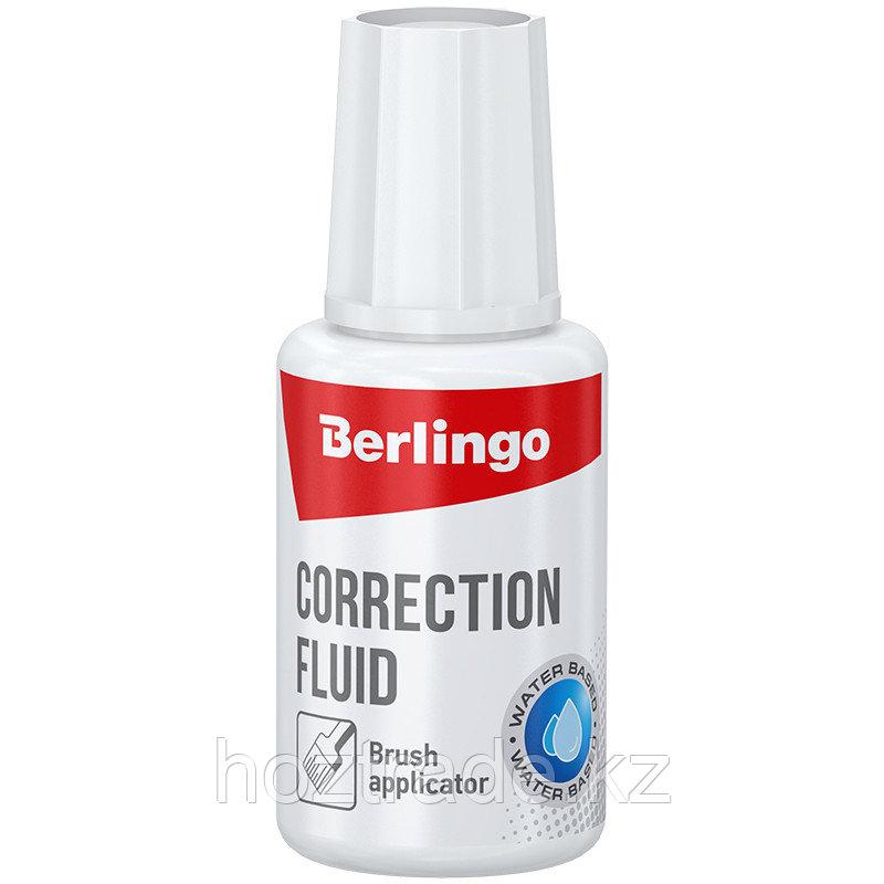 Корректирующая жидкость Berlingo, 20мл,(27г) водная, с кистью