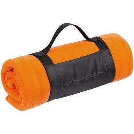 Плед флисовый с ручкой Manta, оранжевый