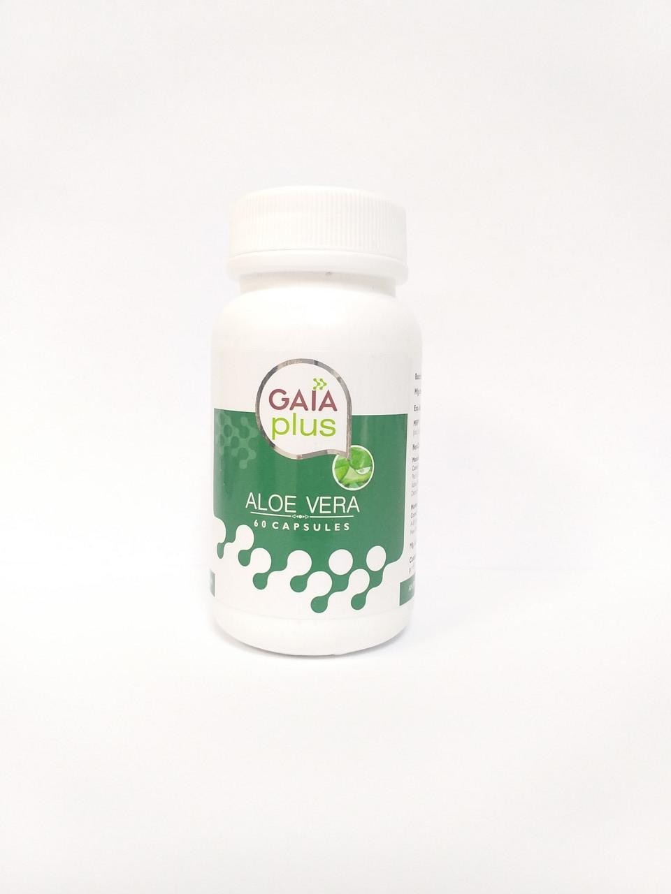 Алое Вера , 60 капсул, Gaia,  ранозаживляющее, противовоспалительное, противомикробное действие