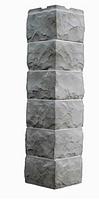 Угол Наружный Светло-серый 589х155х155 мм Скол 3D Facture ДАЧНЫЙ FINEBER